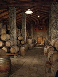 Sanford Winery Barrel Room