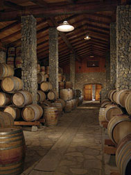 Sanford Winery Barrel Room